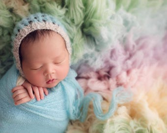 Newborn alpaca bonnet , newborn photo-photo prop, newborn props, newborn bonnet, newborn hat, photography props-newborn boy hat