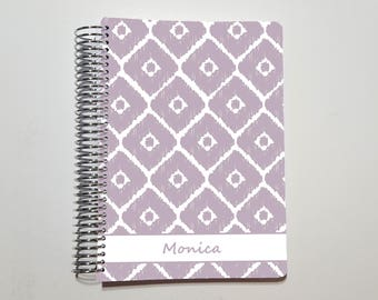 "Spiral Bound Bullet Journal, Customized Journal, Dot Grid, Graph, or Lined Notebook ~ A5 / 5.5"" x 8.5"" / Half Letter (09)"