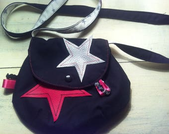 Girl (large) leatherette shoulder bag * on order - fabric choices *.