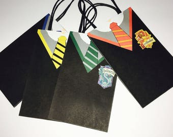 Harry Potter Gryffindor Slytherin Ravenclaw Hufflepuff Goodie Bags Favor Bags Birthday Party Treat Bag Favour Bags Loot Bag Goody Bag 12 Ct