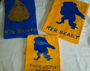 Family trip shirts/group shirts/Matching shirts/Beauty and the Beast/His Beauty/Her Beast /Their little Beast/1st Family Vacation