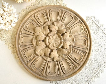vintage wall decor round rosette