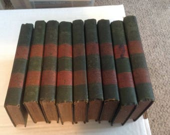 Christian Heard Library 9 Volume set. 1896 Edition