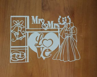 WEDDING PAPERCUT UNFRAMED wall art, home decor, design by quirkycraftsuk, handcut, made to order