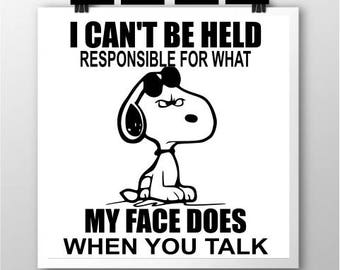 Snoopy- Responsible  SVG ***REVISED***