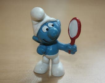 Original Mirror Smurf The Markings are as follows Peyo W.Germany 2.0017 Schtroumpfe Schlumpfe Puffi