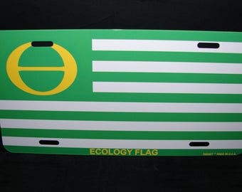 ECOLOGY  FLAG Metal License Plate For Cars  Environmental Awareness