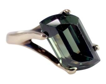 1970s 14k Yellow gold tourmaline ring, Vintage Ring, Tourmaline Ring