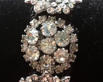 Wearable Art, Glamour Bracelet, Button Bracelet, Rhinestone Bracelet, Up-cycled