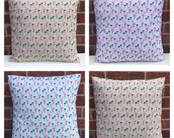 "16"" NEW Retro Flamingo Bird Print Mint,White Or Beige Cushion Cover Retro Vintage Shabby Chic Novelty Cushion"