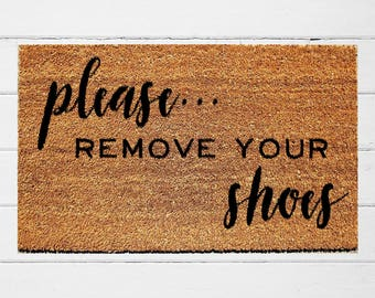 Remove your shoes etsy - No shoes doormat ...