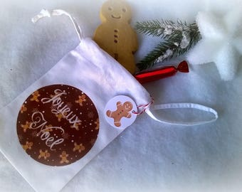 Mini bag fabric Christmas ginger bread kitchen