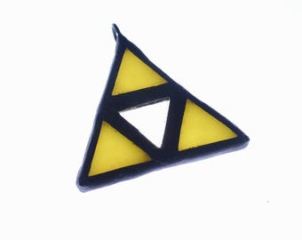 Legend of Zelda Triforce Pendant - Lead-Free Stained Glass