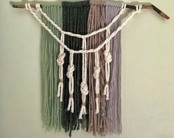White Sage Yarn Hanging