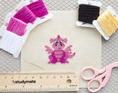 Baby Dragon Cross Stitch Pattern PDF | Snuffles the Baby Dragon | Tiny | Easy | Modern | Beginners Counted Cross Stitch | Instant Download