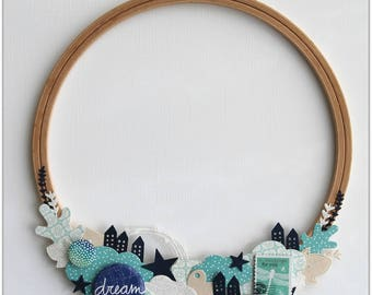 """Diverted embroidery hoop frame decorative """"Dream"""""""