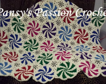 Hand Crocheted  Flavorful Mints Blanket