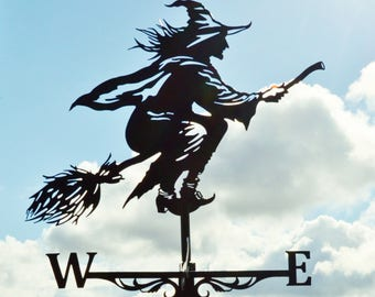 Witch Metal Weathervane Roof Mount Weather Vane Hag Fury Virago