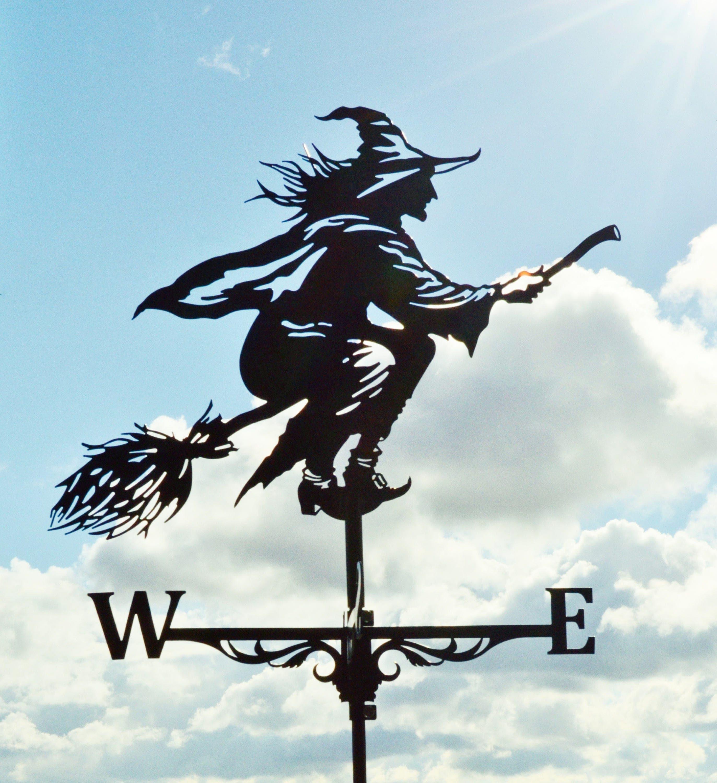 Witch Metal Weathervane Roof Mount Weather Vane Hag Fury