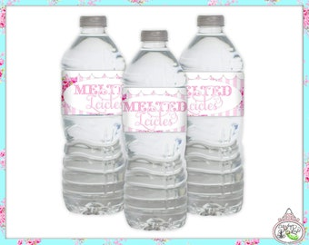 Winter ONE-derland-Water Bottle Labels-Plain and Theme-Party Printable-Birthday-Mothers Day-Bridal Shower-Shabby Chic Parties-Decorations