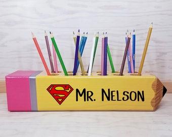 Teacher gift - Superman - classroom decoration - Teacher appreciation gift - Personalized gift - teacher - wood sign