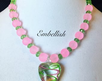 Pink and Green Bling