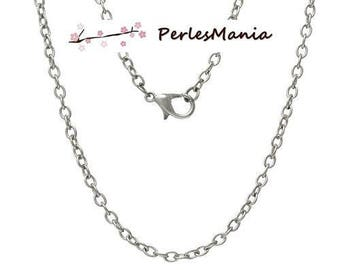 1 NECKLACES 77 cm chain 3.5 par2.5mm silver Platinum S1153083