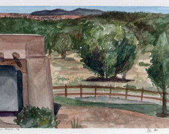 Original Watercolor Painting-New Mexico