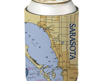 Sarasota Map Etsy