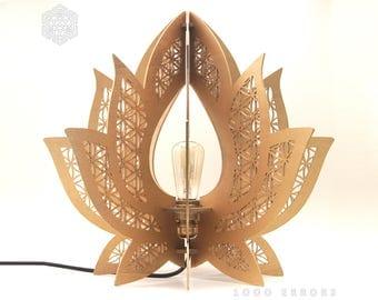 Lotus Flower Of Life Lamp