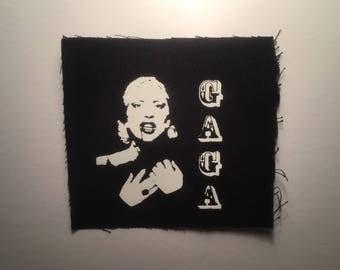 Gaga hand printed patch
