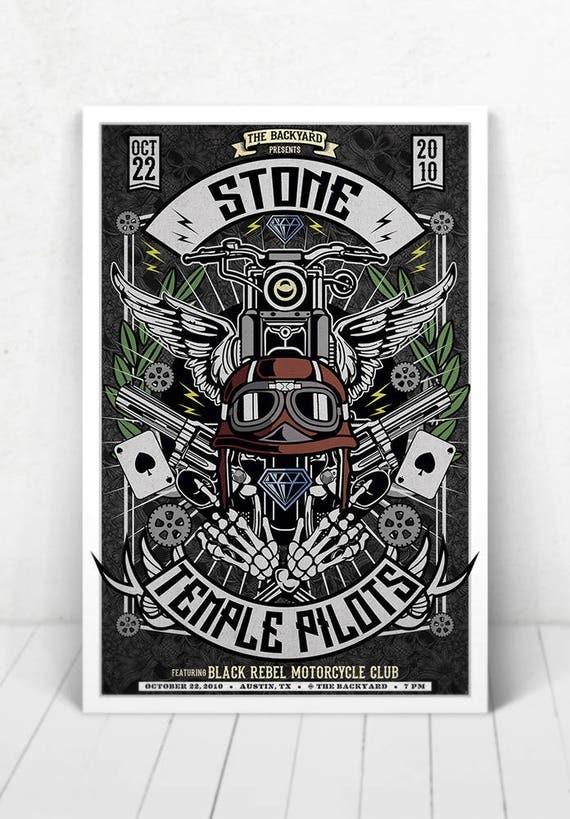 Stone Temple Pilots Concert Poster - Illustration [Stone Temple Pilots / The Backyard Austin, TX - Oct 22, 2010]