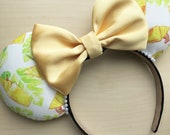 Dole Whip Mouse Ears, Pineapple Whip Mouse Ears, Pineapple Ears, Poynesian Ears, Dole Whip Ears, Dole Whip Inspired Ears