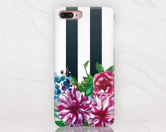 Case to Samsung Galaxy S8 S6 Edge Case Floral iPhone 7 6S Case Stripes iPhone 5S Case Vintage iPhone 7 6S Plus Case iPhone 5 Cover RD1538