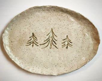 Stoneware Tree Serving Tray