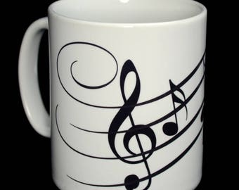 Mug - Musical Notes Mug - Great for Musicians!