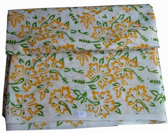 1 to 50 Yards Indian Hand Block Printed Cotton  Fabric