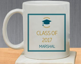 Graduation Hat With Name Printed Class of 2017 Personalized Mug