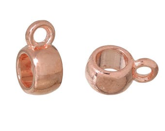 20 10 x 6 mm Rose gold-tone bails
