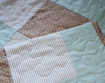 Elliot Range) Baby boys patchwork quilt, patchwork quilt, boys nursery ,quilt, blue quilt,vintage,kids gift,nursery decor