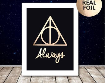 A4 Harry Potter Always Print - Harry Potter Poster - Harry Potter Picture - Harry Potter Quote - Harry Potter Art -  Snape Deathly Hallows