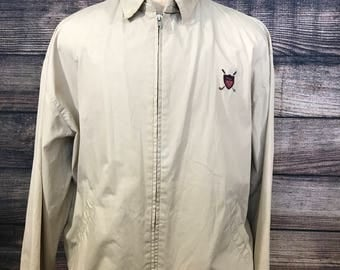 Vintage 90s Polo Ralph Lauren Harrington Jacket Sz XL polo golf crest