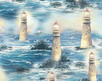 Thomas Kinkade - 5458-99 - The Light of Peace Allover Multi from Benartex