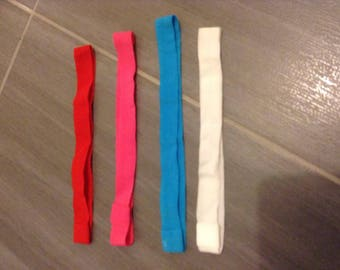 set of 10 elastic headband together various colors available