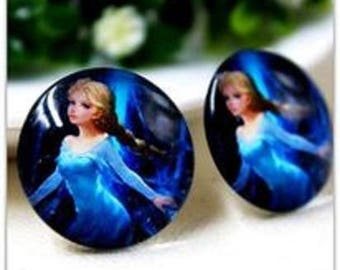 SET of 5 APPLIQUE blue ELSA color cabochon