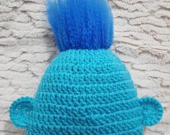 Branch inspired crocheted hat