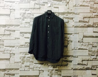 Vintage yohji yamamoto dress shirt Y's grey casual junya watanabe rei kawakubo comme des garçons issey miyake pleats please plantation