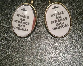 """im strange"" style earrings"