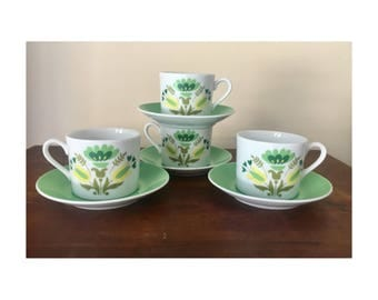 Retro japan teaset