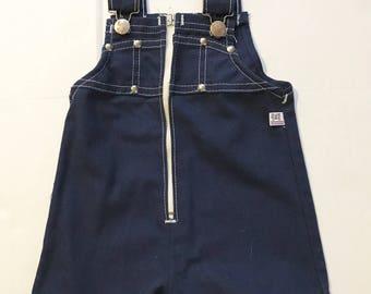 Blue Zipper Romper